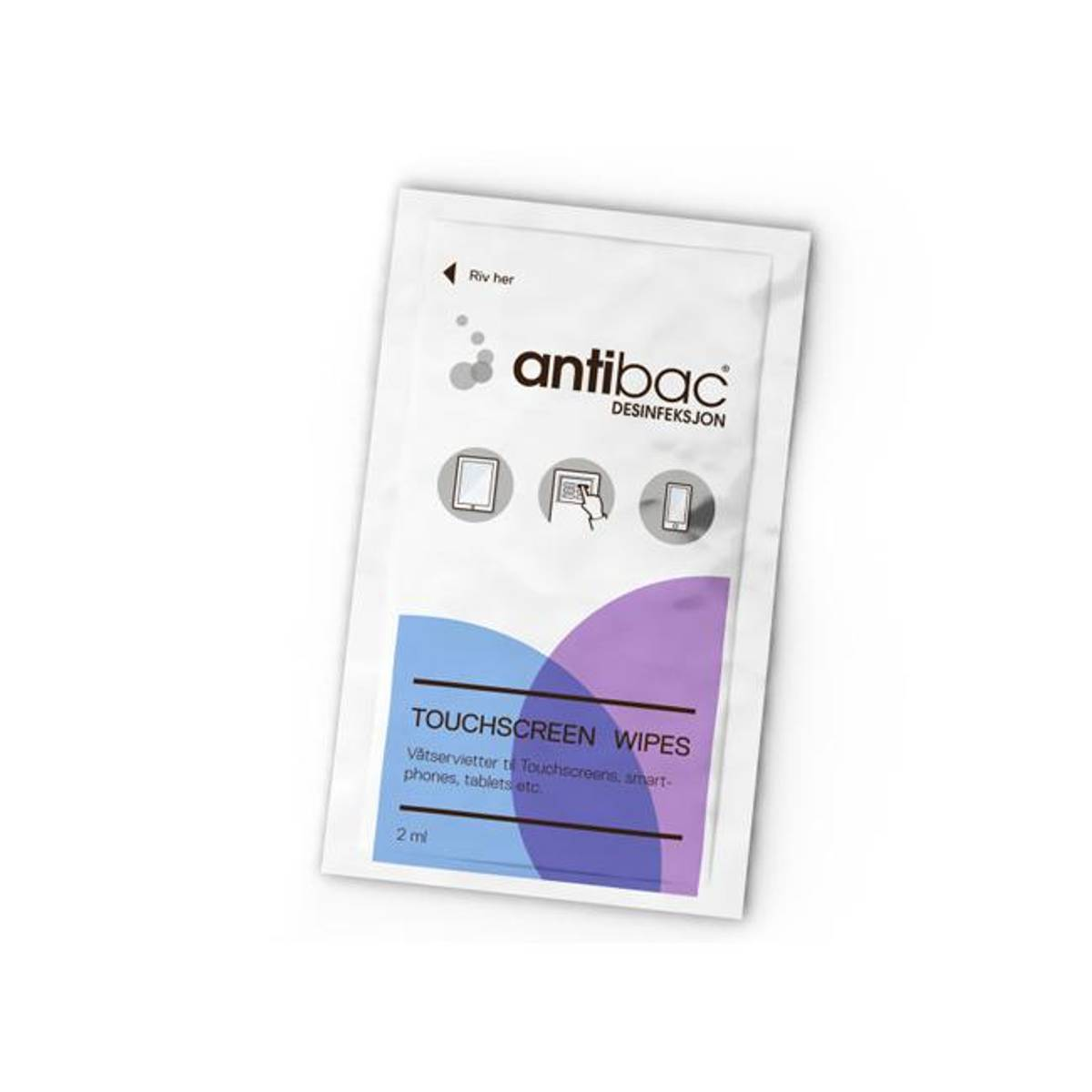 Antibac touchscreen våtservietter, 95 stk
