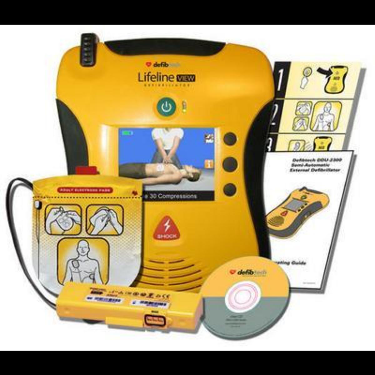 Lifeline VIEW Hjertestarter - Videovisning, to språk